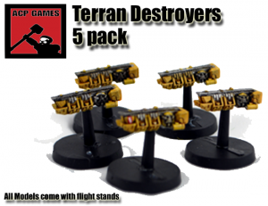 pack of five destroyers plus bases